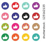 like sign icon set. simple... | Shutterstock . vector #125162135