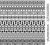 stripe ethnic seamless pattern. ... | Shutterstock .eps vector #1251623002