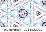 hand painted watercolor tie dye ... | Shutterstock . vector #1251633022