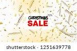 sale christmas tinsel confetti  ... | Shutterstock .eps vector #1251639778