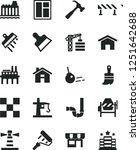 solid black vector icon set  ... | Shutterstock .eps vector #1251642688