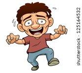 illustration of cartoon man... | Shutterstock .eps vector #125164532