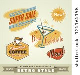 vintage and retro labels   logo | Shutterstock .eps vector #125165198