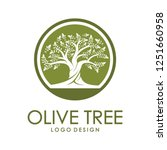 beautiful logo olive tree on... | Shutterstock .eps vector #1251660958