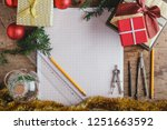 top view for christmas... | Shutterstock . vector #1251663592