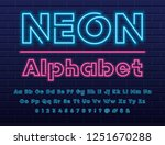 glowing blue and pink neon...   Shutterstock .eps vector #1251670288