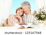 nice older couple together in... | Shutterstock . vector #125167568