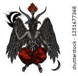 Demon Baphomet. Satanic Symbol...