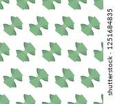 pattern of green bows. vector.   Shutterstock .eps vector #1251684835