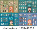 woman  man  girl  boy character ... | Shutterstock .eps vector #1251692095