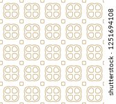 seamless geometric ornamental... | Shutterstock .eps vector #1251694108