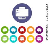 printer icons color set for any ... | Shutterstock . vector #1251701665