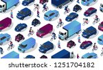 isometric car collection. city... | Shutterstock .eps vector #1251704182