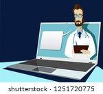 doctor online  medical... | Shutterstock . vector #1251720775