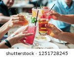 people drink cocktails at the... | Shutterstock . vector #1251728245