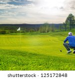 Golf Player On The Putting...