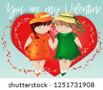 happy valentine's day. a pair... | Shutterstock .eps vector #1251731908