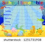 school timetable with marine... | Shutterstock .eps vector #1251731938