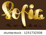 sofia woman's name gold shadow... | Shutterstock .eps vector #1251732508