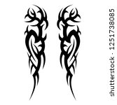 tattoo sleeve  tribal symmetric ... | Shutterstock .eps vector #1251738085