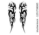 tribal symmetric pattern... | Shutterstock .eps vector #1251738085
