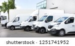 several cars vans trucks parked ... | Shutterstock . vector #1251741952