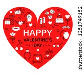 happy valentines vector... | Shutterstock .eps vector #1251749152