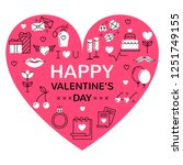 happy valentines vector... | Shutterstock .eps vector #1251749155