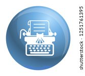 antique typewriter icon. simple ... | Shutterstock .eps vector #1251761395
