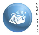 paper typewriter icon. simple... | Shutterstock .eps vector #1251761398