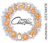 merry christmas lettering in... | Shutterstock .eps vector #1251768478