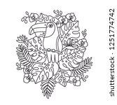 toucan bird is sitting on a...   Shutterstock .eps vector #1251774742