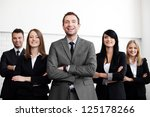group of business people with... | Shutterstock . vector #125178266