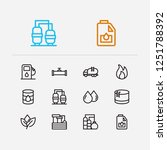petrol icons set. oil warehouse ... | Shutterstock . vector #1251788392