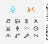 crypto currency icons set....