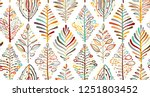 abstract leaves background.... | Shutterstock .eps vector #1251803452