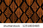 abstract leaves background.... | Shutterstock .eps vector #1251803485