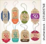anniversary retro vintage style ... | Shutterstock .eps vector #1251805768