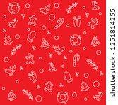 christmas red seamless pattern | Shutterstock .eps vector #1251814255