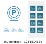 delivery icon set and aircraft...