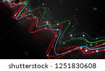 3d render abstract graph with... | Shutterstock . vector #1251830608