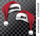 naughty and nice santa claus... | Shutterstock .eps vector #1251836338