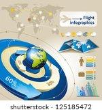 flight infographics | Shutterstock .eps vector #125185472