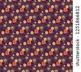 vintage floral pattern....   Shutterstock .eps vector #1251866812