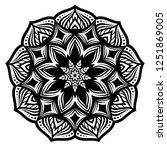 mandala for coloring book.round ...   Shutterstock .eps vector #1251869005