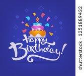 happy birthday card  vector...   Shutterstock .eps vector #1251889432