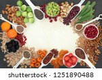 high fibre super food... | Shutterstock . vector #1251890488