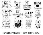 set of 12 hand lettering... | Shutterstock .eps vector #1251893422