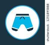 shorts icon colored symbol.... | Shutterstock .eps vector #1251895888