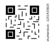 qr code glyph icon. matrix... | Shutterstock .eps vector #1251925825